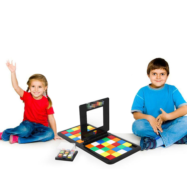 Puzzle Cube 3D Puzzle Race Cube Board Game Kids Adults Education Toy Parent-Child Double Speed Game Magic Cubes 2