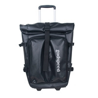 Godspeed high quality waterproof pvc backpack with wheels travel trolley backpack