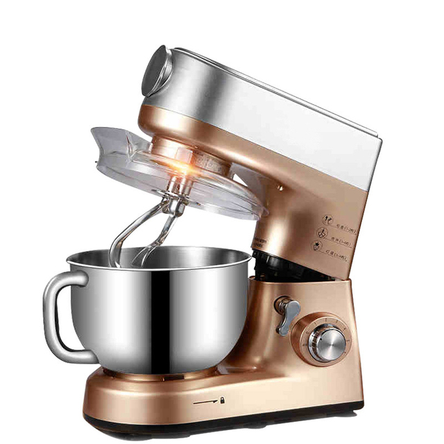 1000W Champagne Color Large Power Kitchen Electric Dough Mixer And Cooking  Blender Machine