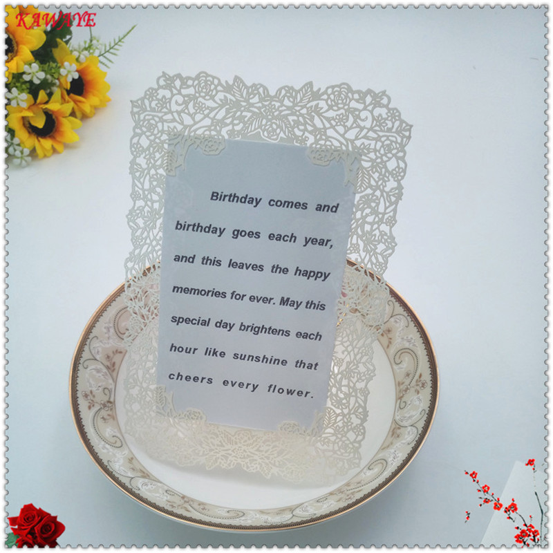 Us 9 0 53 Off 30 Pcs Hollow Sculpture Laser Cut Table Seat Card Wedding Party Invite Card Birthday Anniversary Celebration Supplies 5zh13 In Cards