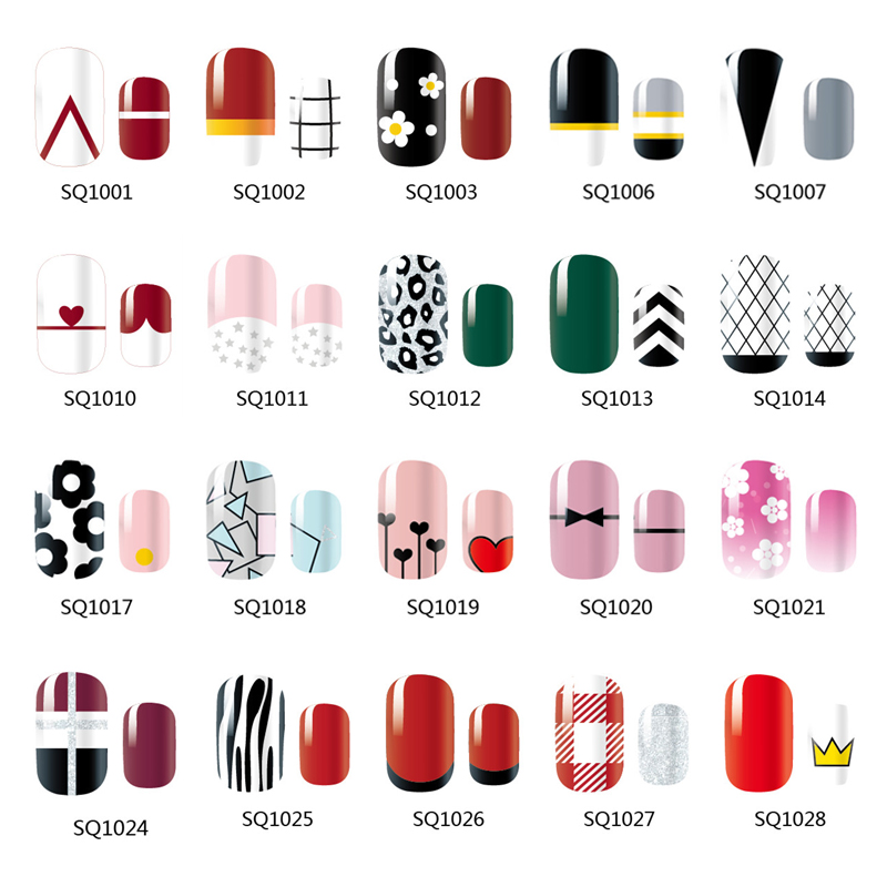 цены NEW 14 Tips NAIL Art Full Cover Self Adhesive Stickers Polish Foils Tips Wrap Decal Manicure Lattice Geometric Zig Zag
