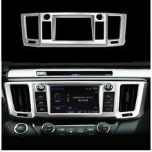 For Toyota RAV4 2016 2017 Centre Control Panel Console Navigation Frame Cover Trim Decoration ABS Chrome Sticker Car Accessories