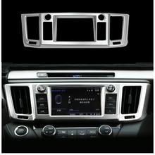 Per Toyota RAV4 2016 2017 Centro Console di Pannello di Controllo di Navigazione Telaio di Copertura Trim Decorazione ABS Chrome Accessori Auto Adesivo