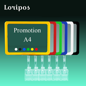 POP Sign Frame Clamp on полка для супермаркета цена Talker Label Holder Clip реклама продажа баннер вывеска бирка витрина