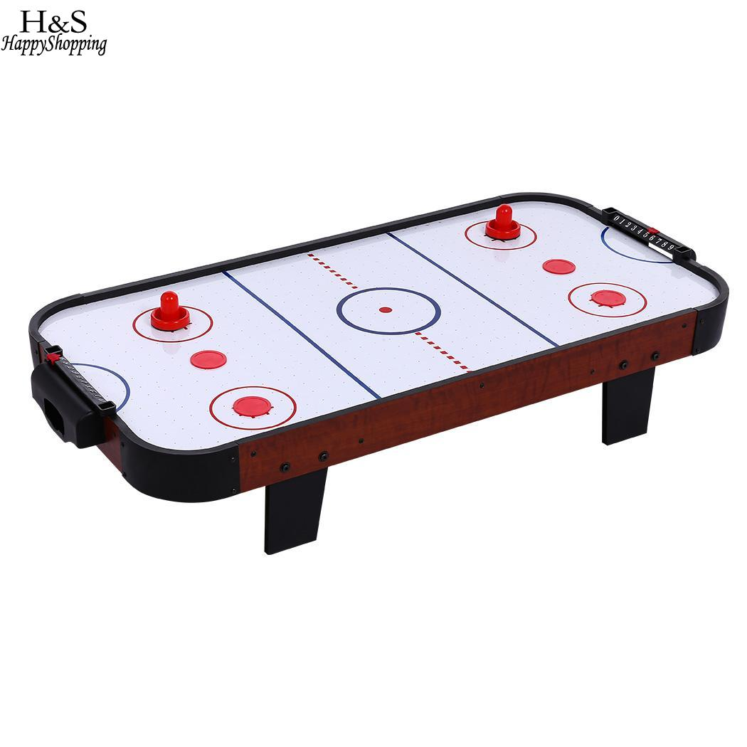 UK Plug Metal Inch Table Top Air Hockey with 40 Fan and 4 Pucks Dadptor 36 multi function 4 in 1game table top kids toy table 4 different game soccer table tennis air hockey pool