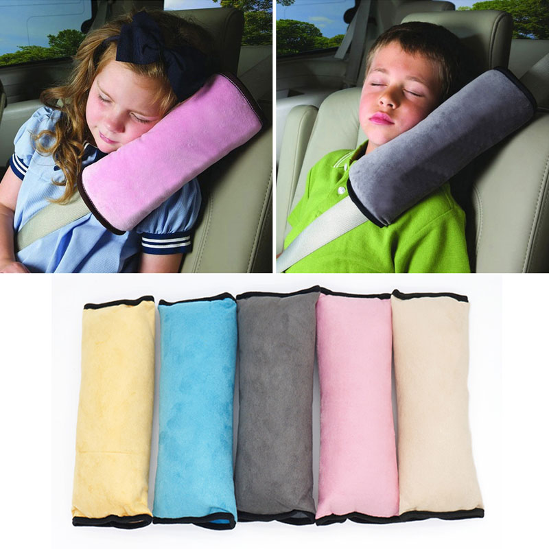 Baby Pillow Pad Car Auto Safety Seat Shoulder Belt Protector Anti Harness Roll Pad Sleep Pillow For Kids Toddler Car Pillow