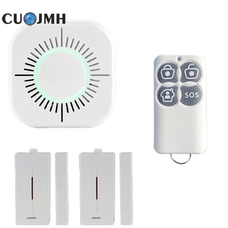 все цены на 1 Set Wifi Home Intelligent Burglar Alarm Ios Android App Control Gsm Alarm System Intercom Remote Control Autodial Siren Sensor онлайн
