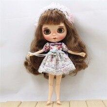 Blyth petite poupée Outfit vêtements Dentelle Floral Print Dress costume de coiffure 2pcs