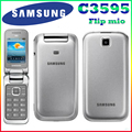 Samsung C3595 Разблокирована 3 Г WCDMA Черный Большие Кнопки Стильный Флип Мобильный Телефон Восстановленное телефон Высокое качество Только Английский язык