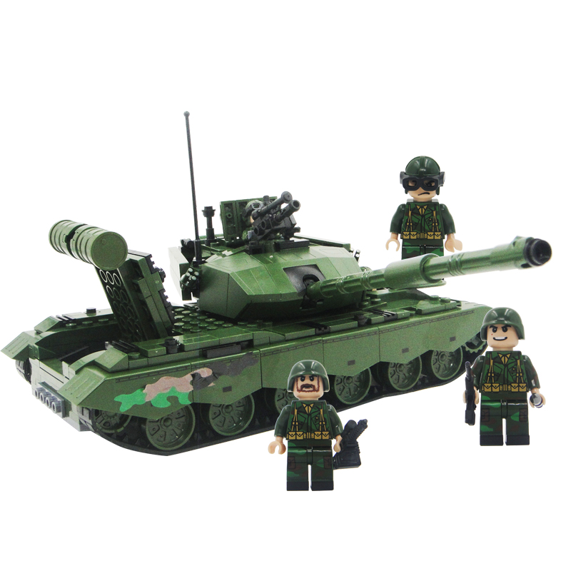 Winner 533pcs 8008 Land War Heroes Military Series Building Blocks Main Battle Tanks Children's Educational Toys For Boys Gifts winner 8101 tank t 90a main battle tanks battle military building brick block educational boy toys for children with gifts