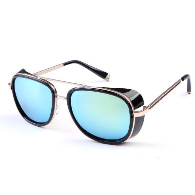 9a25d9b0b MAOLEN Tony Stark Iron Man Sunglasses Men Luxury Brand Eyewear Mirror Punk  Sun Glasses Vintage Male Sunglasses Steampunk Oculos