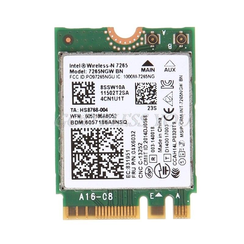 For Intel Wireless-N 7265 7265NGW BN Dual Band 2x2 Wi-Fi Bluetooth 4.0 WiFi Card