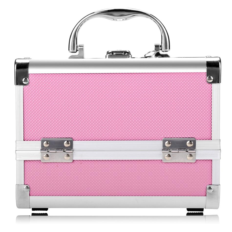 homdox mini portable extendable make up train case makeup storage