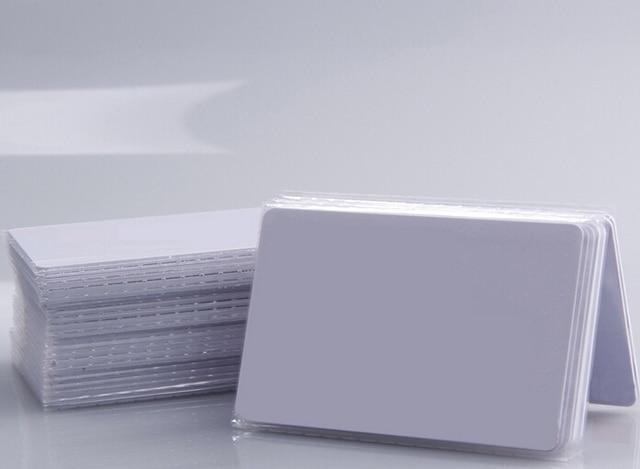 (100 pcs/lot) 13.56Mhz RFID F08 1K Cards Waterproof PVC Proximity NFC Smart Card for Access Control