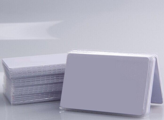 bilder für (100 teile/los) 13,56 Mhz RFID Wasserdichte PVC Proximity MF1K S50 NFC Smart Card für Zugangskontrolle