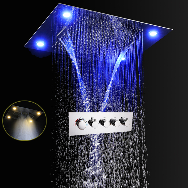 Bathroom Rain Shower Set Luxury Shower System Waterfall Spa Mist ...