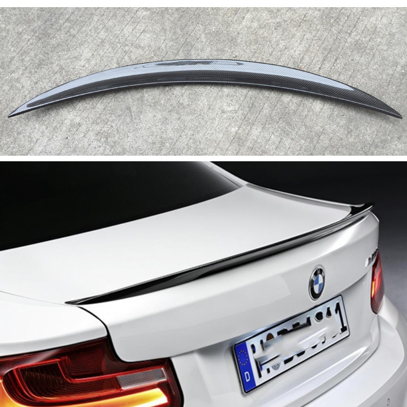 Pour BMW F22 becquet Performance fibre de carbone becquet lèvres 2 série F22 coupé & F87 M2 220i M235i 228i 2014-UP