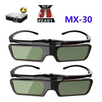 0ecab4cd8 DLP-LINK 3D 2 pcs Óculos de Obturador Ativo óculos para Xgimi Z4X/H1/Z5 Optoma  Afiada LG Acer H5360 jmgo Projetores BenQ w1070