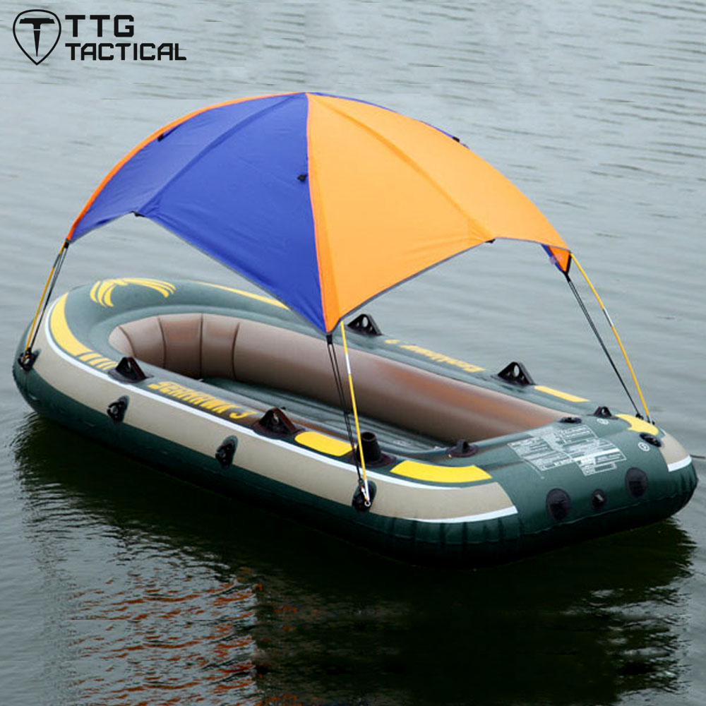 ФОТО TTGTACTICAL Canopy for 2 Person Seahawk Inflatable Boat 68347 Sun Shelter Fishing Tent No Boat Inflatable Boat Sun Shelter