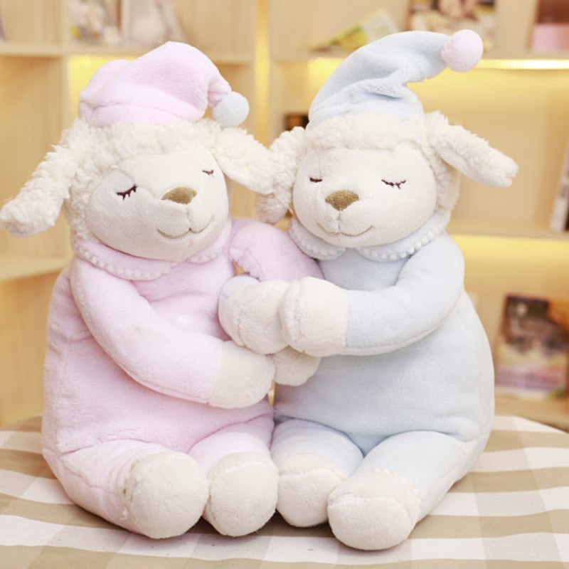 Soft Baby Sleeping toy Plush toy lamb Cuddly Stuffed plush toy Sheep with hat