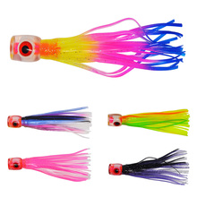 5 pcs Small size soft head octopus  skirt  bait  sea trolling fishing lure salt water lures  4.5 inch 13g