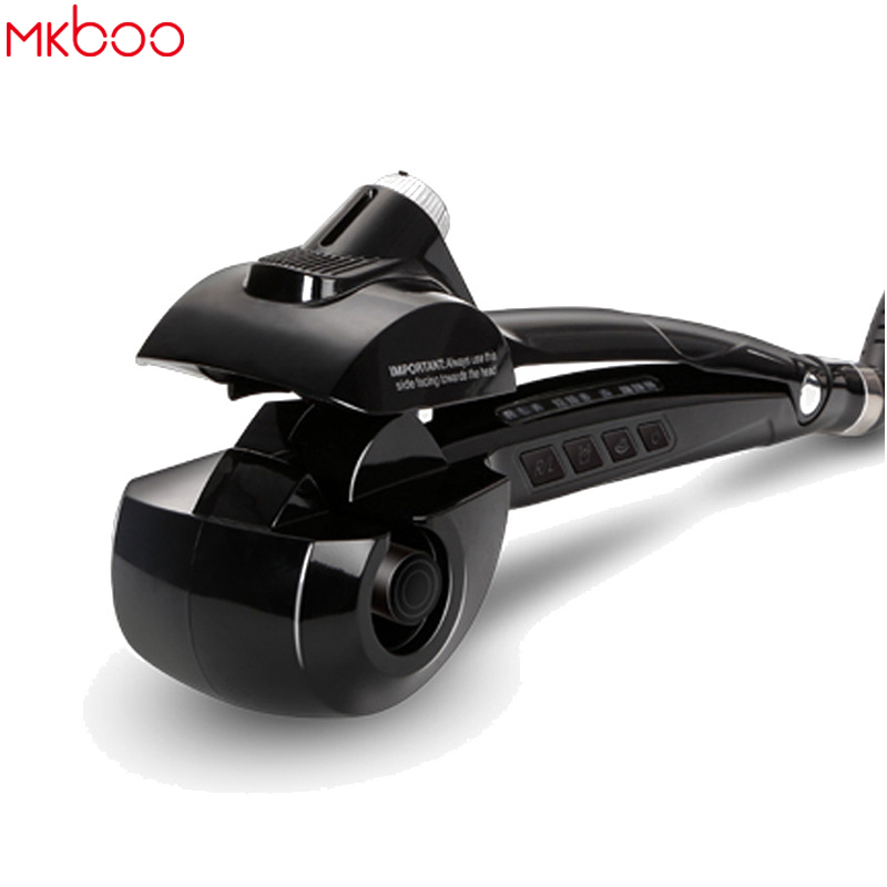 MKBOO Pro Hair Curler Automatic Hair Curl Roller Curling Wand Steam Spray Hair Care Ceramic Wave Magic Curling Iron EU US Plug