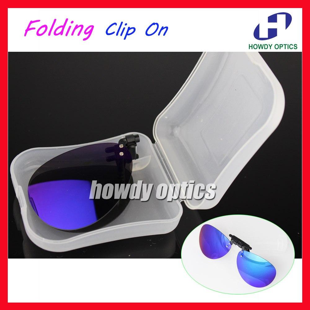 ᑐ10 unids espejo Rana conducción Gafas ojo Gafas sol plegable clip ...