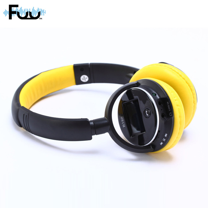 MP3 Player LED Headsets Earbuds Wireless Bluetooth Headphones For Phones Music Handsfree Headset With TF Card FM Radio HZSP076