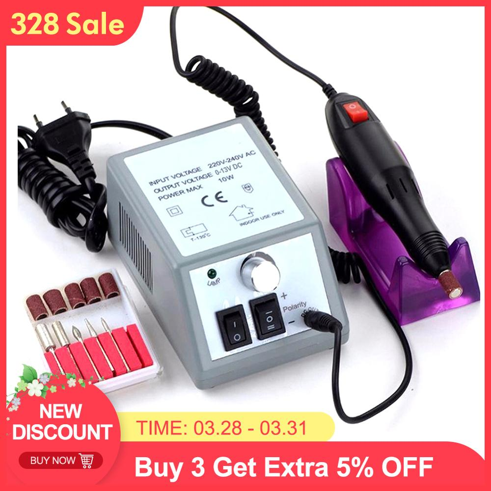 Professional Electric Nail Drill Manicure Machine with Drills 6 Bits Pedicure Manicure Nail Art Equipment Electronic Nail File