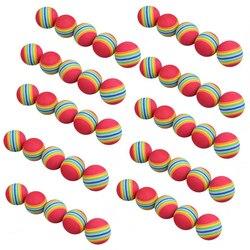 Frete Grátis 50 pçs/saco Rainbow Color Golf Training Aids Prática Espuma Bolas de Treinamento Do Balanço Do Golfe Indoor Bolas de Esponja de Espuma