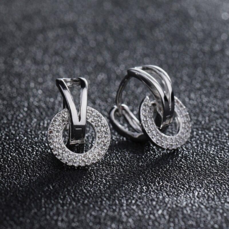 925 Sterling silver stud earrings wedding (1)