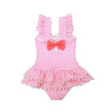 Dollplus New Girl Swimwear Swimsuit Summer Beach One Piece Swimming Children Beachwear Girls Swim Suit Bathing Clothing