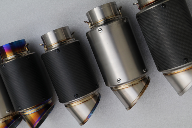 Customized Exhaust Pipe ID:51/54/61/63/65mm Carbon Fiber Motorcycle Exhaust Pipe Motorbike Muffler Escape with Accesoriess