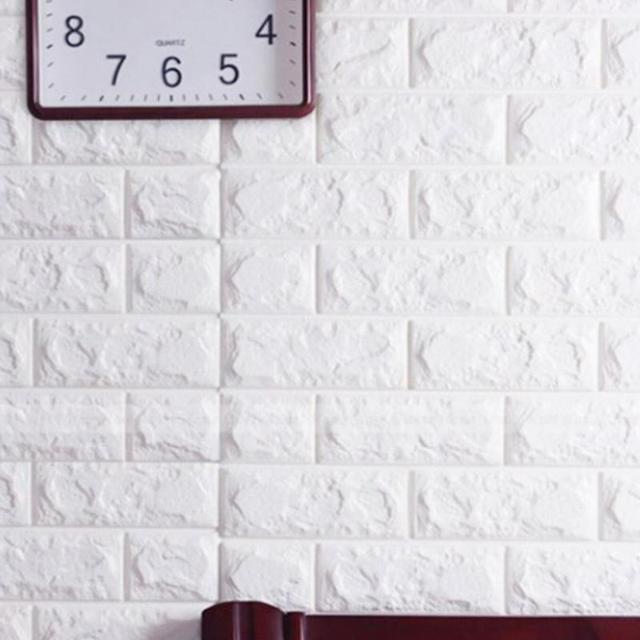 3d bata tahan air background wallpaper putih untuk ruang tamu