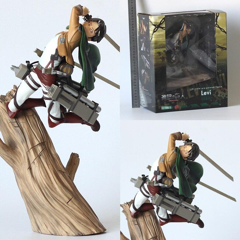 Nouveau Levi Ackerman bataille état Jiyuu no Tsubasa bande dessinée Anime attaque sur Titan 10 pouces Statue Figurine jouets