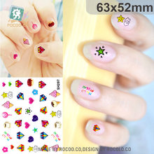 Rocooart SH201-224 Adhesive Nail Foil Sticker Art Harajuku Little Element Nail Wraps Sticker Manicure Decor Decals Diamonds Star(China)