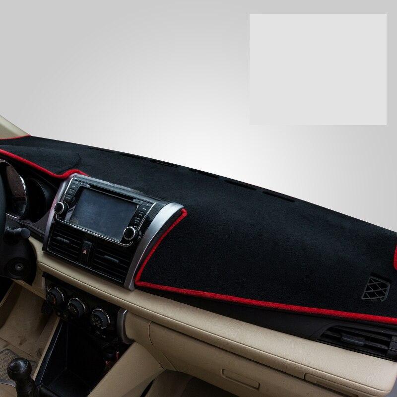 Lsrtw2017 полиэстер автомобиля коврик для приборной панели для toyota vios yaris седан 2013 2014 2015 2016 2017 2018 2019