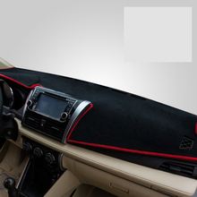 цена на lsrtw2017 polyester car dashboard mat for toyota vios yaris sedan 2013 2014 2015 2016 2017 2018 2019