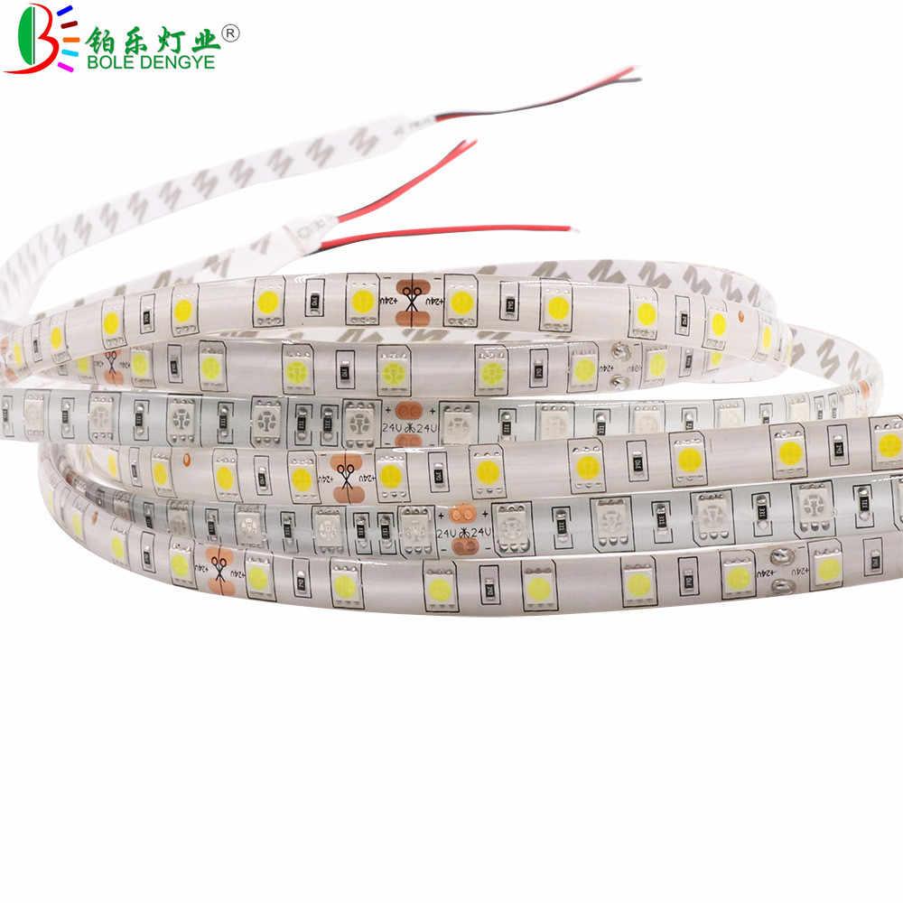 DC 12V גמיש LED רצועת אור SMD 2835 5050 לבן חם לבן כחול ירוק אדום RGB LED רצועת עבור סלון חדר שינה קישוט