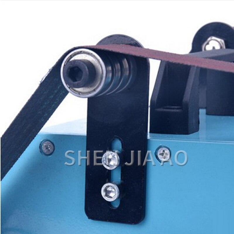 1PC Double-head Small Desktop Double-axis Belt Machine 220V Micro Double Sanding Machine Home Polishing Grinding Knife Tool 950W