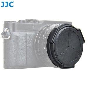Image 3 - JJC Noir Argent Auto Lens Cap pour Panasonic LUMIX DMC LX100 et LEICA D LUX (Typ 109) Caméra