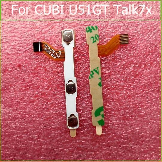 100% interruptor de encendido botón de Volumen Power Flex cable original Para El CUBO U51GT TALK7X conductor flexible con sticker piezas de repuesto