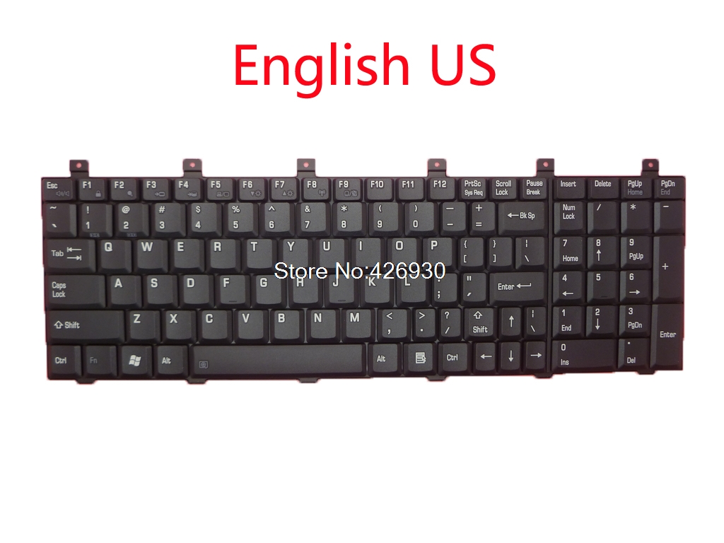 Computer & Office Keyboard For Toshiba For Satellite M60 M65 P100 P105 Mp-03233tq-920 Aebd10ia017 Turkey Tr Mp-03233us-920 Aebd10iu011 Us English Beautiful In Colour