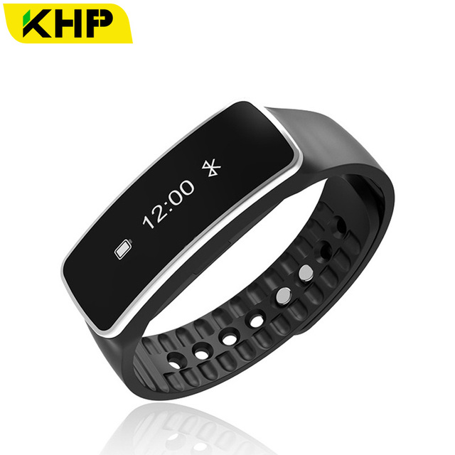 2016 Original KHP Brand Smart Wristband For iPhone IOS Android With Pedometer Clock Phone Remind IP67 Band Fitness Bracelet