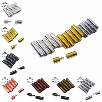 Wholesale 500Pcs Metal End Caps Clasps Fits 2mm 3mm 4mm 5mm 6mm Round Leather Cord for DIY Jewelry Findings Making LBC001