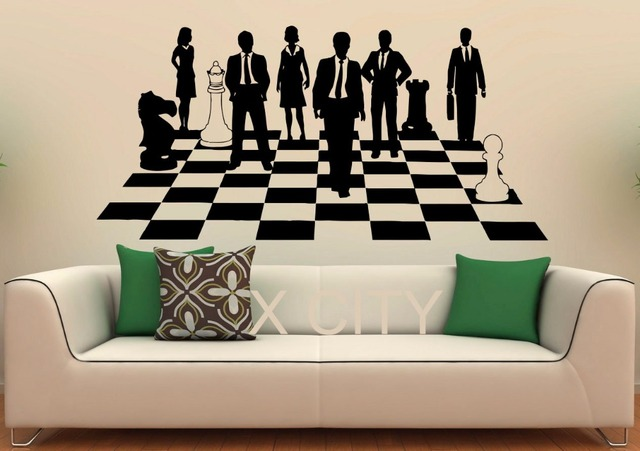 Chess Game Sticker Strategy Board Show Decals Vinyl Office