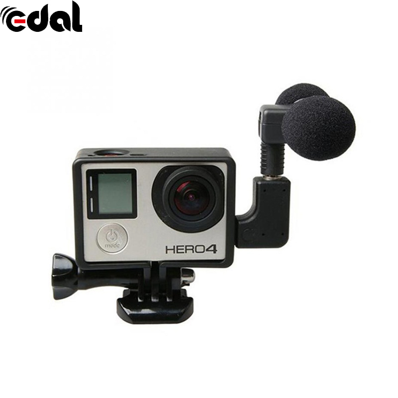 For Go Pro Hero4 Standard Mini Stereo Microphone Frame Case Protectivefor Gopro Hero 4 3+ 3 USB to 3.5mm Mic Adapter Cable Cord