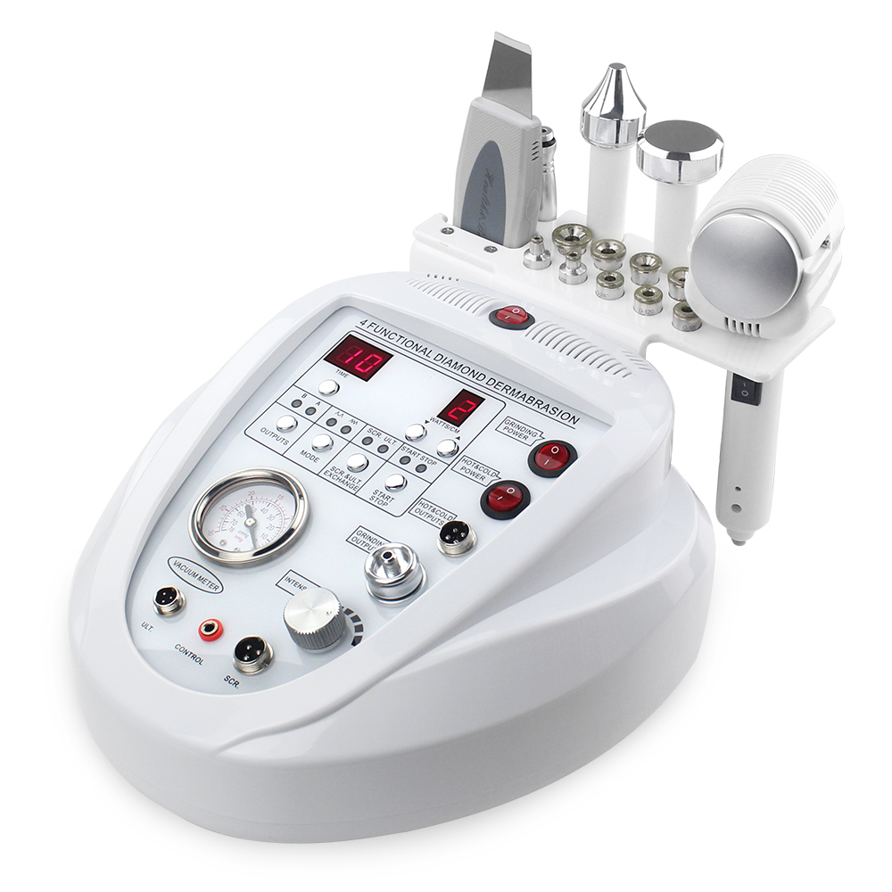 4 In 1 Diamond Microdermabrasion Machine Dermabrasion Anti Aging Wrinkle Skincare Blackhead Remover Exfoliator For Salon Use