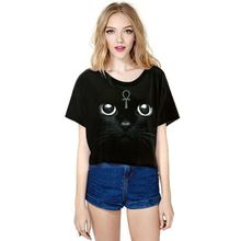Black Cat Shining Eyes T-shirts Collection