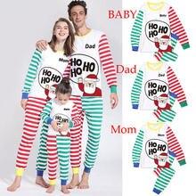 Рождественские одинаковые комплекты для семьи; пижамные комплекты; детская Рождественская Пижама с изображением оленя для мамы, папы; одежда для сна для брата и сестры; одежда для малышей